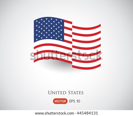 vector image of american flag, USA flag, United States flag, American symbol, Independence day background - stock vector