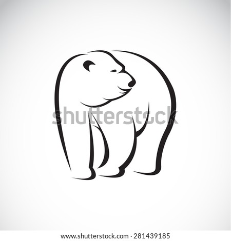 Vector image of an bear design on white background - stock vector