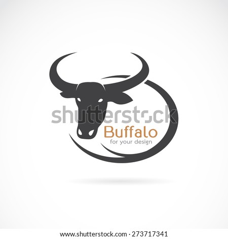 Vector image of an buffalo design on white background. - stock vector