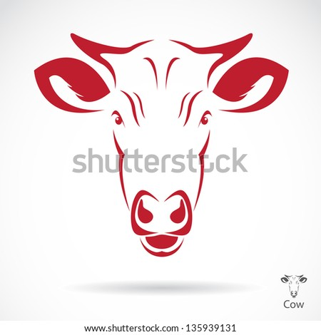 Vector image of an cow head , illustration - vector - stock vector