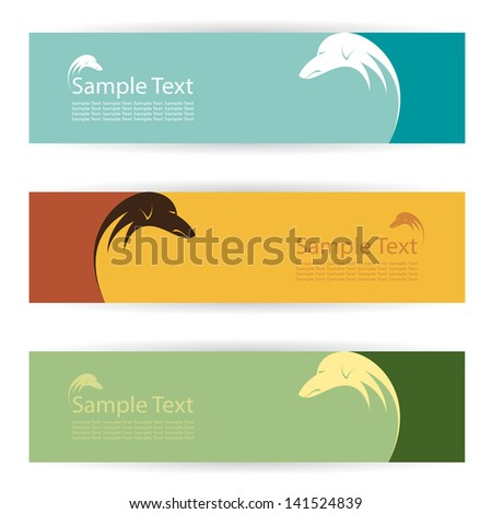 Vector image of an dog banners . - stock vector