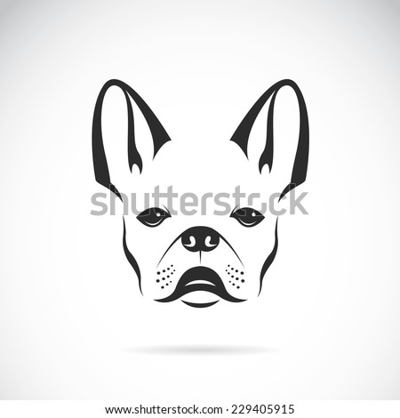 Vector image of an dog (bulldog) on white background - stock vector