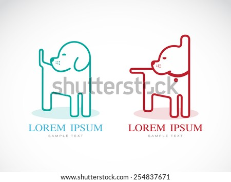 Vector image of an dog design on white background - stock vector