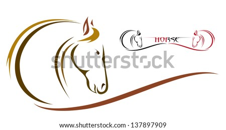 Vector image of an horse - stock vector