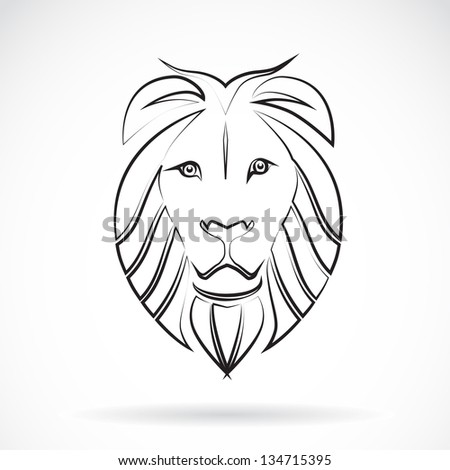 Vector image of an  lion , illustration - vector