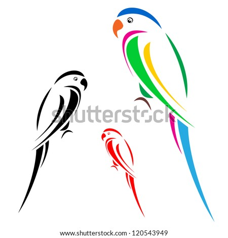 Vector image of an parrot - stock vector