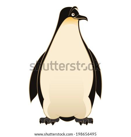 Vector image of an smiling cartoon Penguin - stock vector