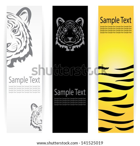 Vector image of an tiger banners . - stock vector