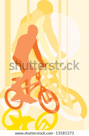 vector image of BMX cyclist
