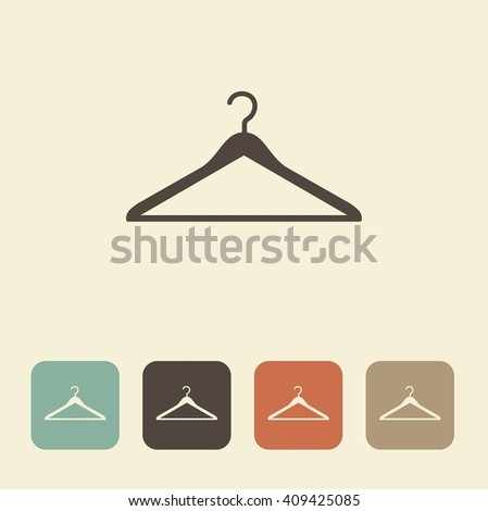 Vector image of coat hangers. Simple monochrome icon - stock vector
