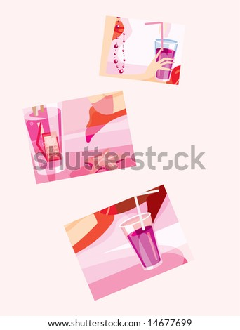 vector image of few drinks