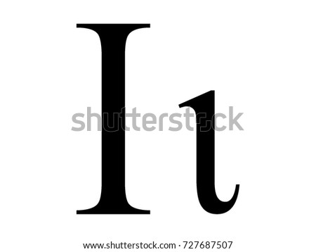 Vector Image Greek Letter Iota Stock Vector 2018 727687507