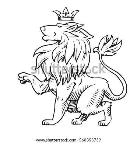 Lion sitting profile - photo#54