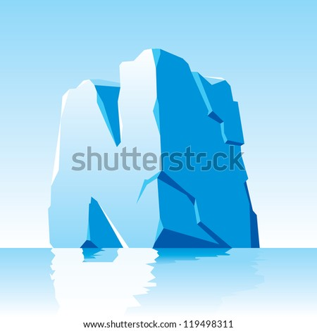 vector image of ice letter N - stock vector