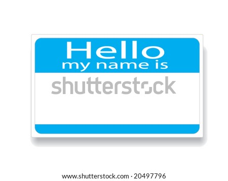 Vector image of name tag - add name and customize easily