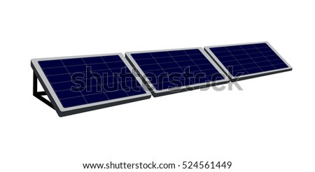 Vector image of solar panels