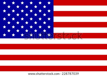 Vector image of the American flag as a background. - stock vector