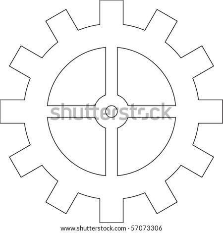Vector image of the gear. - stock vector