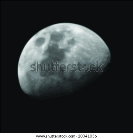 Vector Image of the Moon - stock vector
