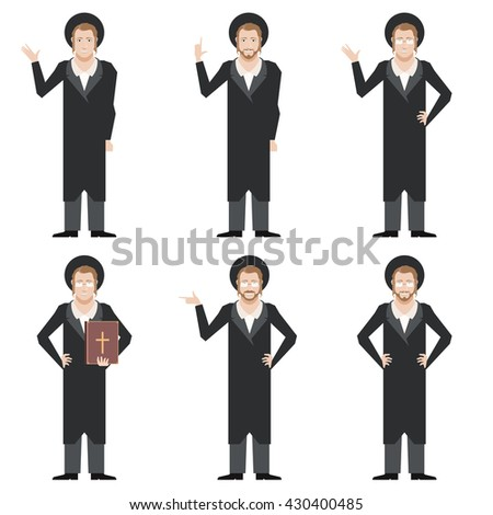 Vector image of the Set of Jews - stock vector