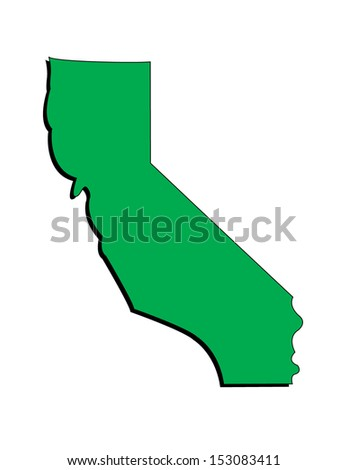 Vector Image of the State of California; Illustrator 8 - stock vector