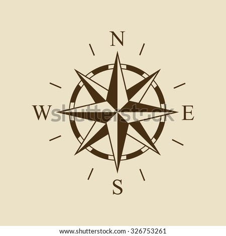 Vector image of the wind rose