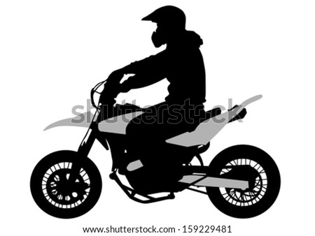 Vector image of young people on a sport bike. Property release is attached to the file - stock vector