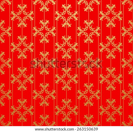 Vector Image. Red color. Retro style. Background for Your design. Wallpaper art design. - stock vector