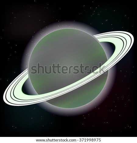 Vector image Saturn planet - stock vector