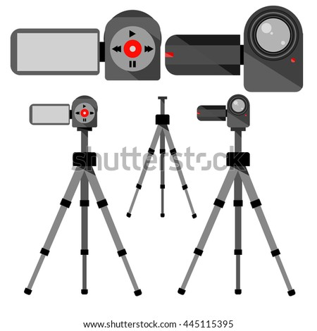 Vector image video cameras and tripods