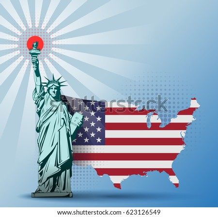 Usa Abstract Map Isolated On White Stock Vector - Bokeh us map