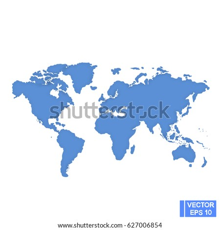 Vector image world map carved empty stock vector hd royalty free world map carved an empty silhouette of continents cut from paper gumiabroncs Image collections