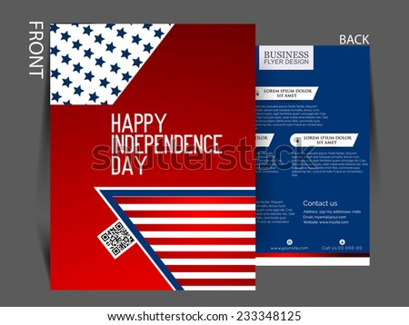 Independence Day Poster Happy 4Th July Stock Vector 418287793