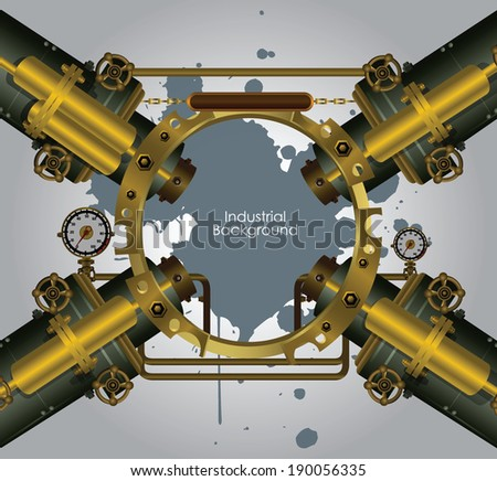 Vector industrial and engineering background - stock vector