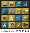 vector industry icons set - stock vector