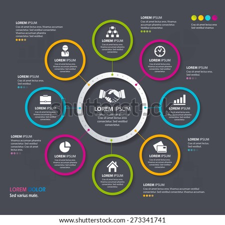Vector Info graphic design circles. Eps 10. Can be used for diagram, banner, number options, workflow layout, step up options or web design. - stock vector