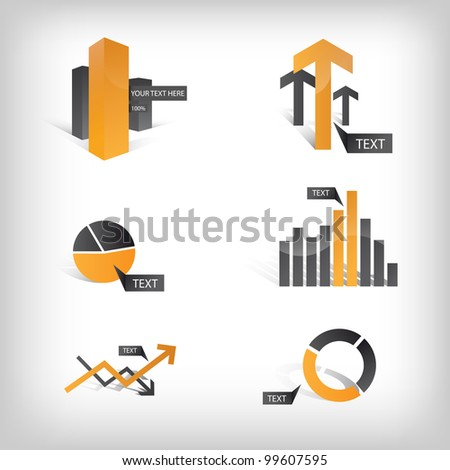 Vector Info Graphic Icons and Elements - stock vector