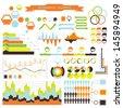 Vector info-graphic. orange-green 03 - stock