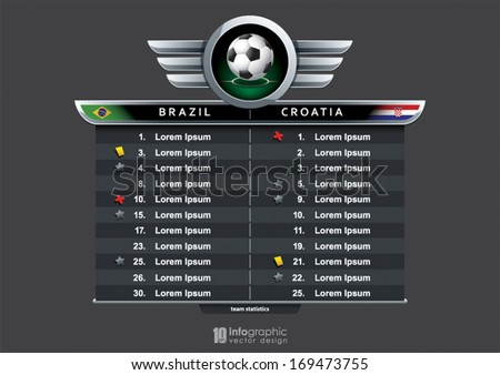vector info graphic statistics - football - stock vector