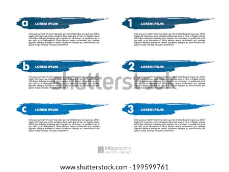 vector info graphic tabs - steps 1 2 3 - stock vector