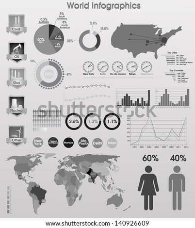 Vector info graphics - stock vector