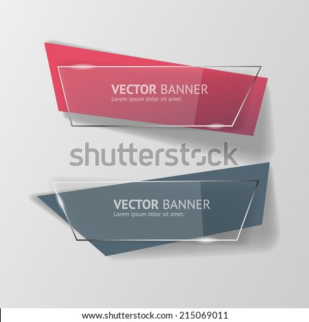 Vector infographic banners set - stock vector