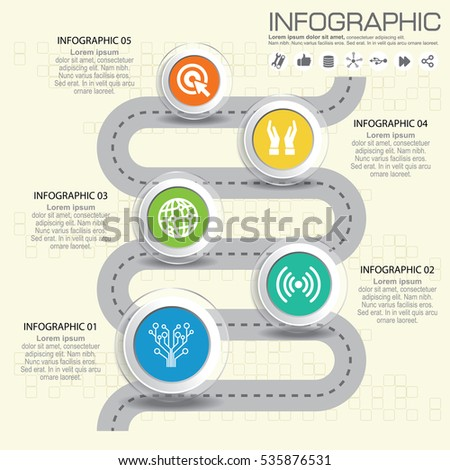 Vector Infographic Company Milestones Timeline Template Stock - Milestone timeline template