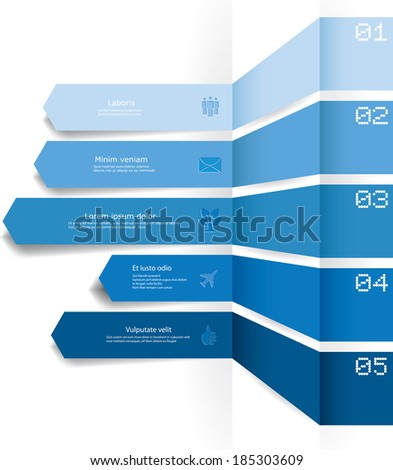 Vector infographic composition. - stock vector