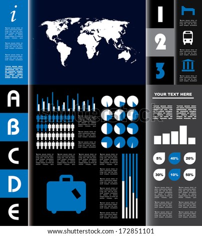 Vector infographic composition city icons.