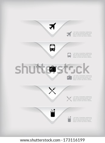 Vector infographic composition with city icons. - stock vector