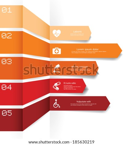 Vector infographic composition with medic elements. - stock vector