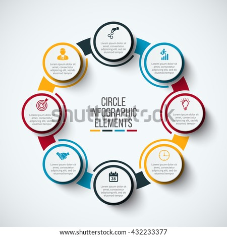 Vector infographic design template business concept stock vector vector infographic design template business concept with 8 options parts steps or processes cheaphphosting Images