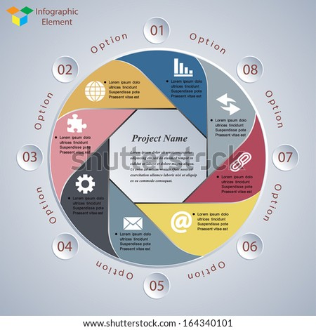 Vector infographic elements. Modern business style. - stock vector