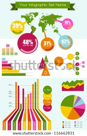 Vector infographic elements set big - stock vector